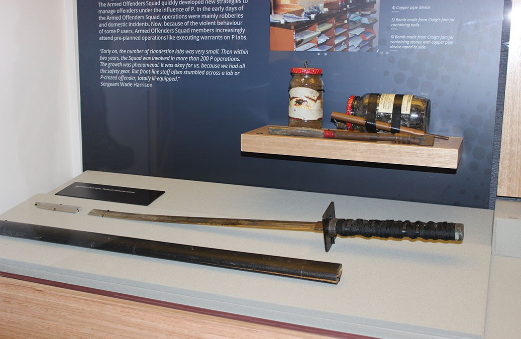 The sword used in the attack