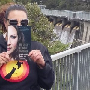 Me and my book at the Waitakere Dam
