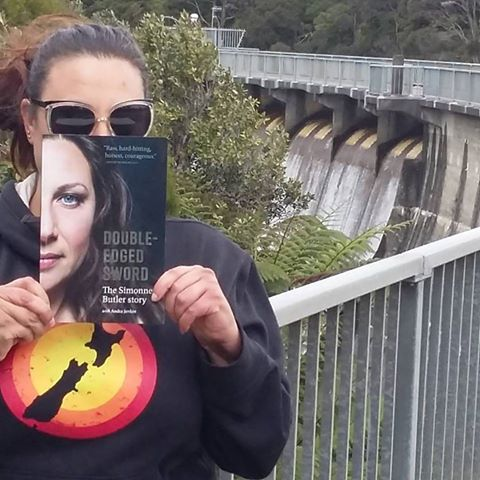 Me And My Book At The Waitakere Dam Simonne Butler